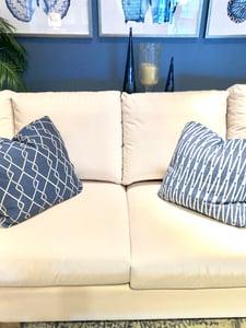 Peyton Pearl LiveSmart fabric on sofa